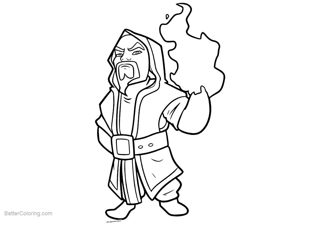 Free Clash Royale Coloring Pages Line Art printable