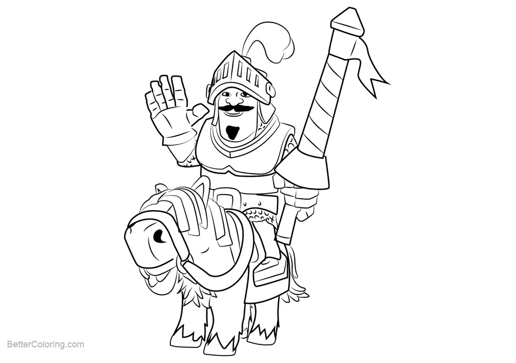 free clash royale coloring pages prince printable for kids and adults - Clash Royale Coloring Pages