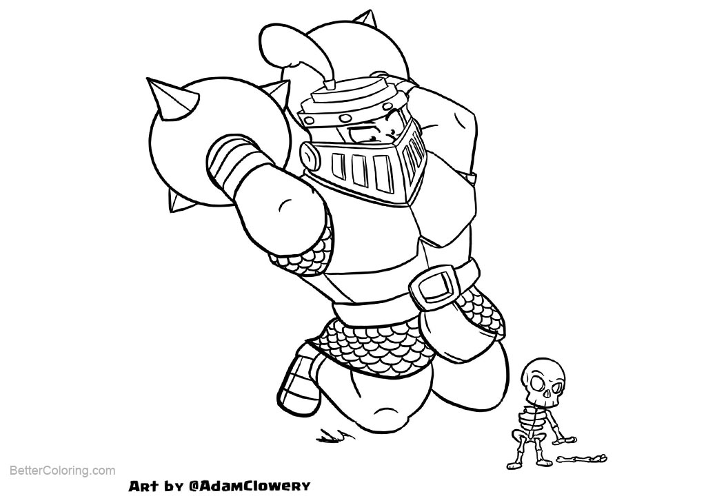 clash royale coloring pages by adam clowery free