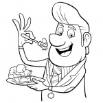 Cloudy with a Chance of Meatballs Coloring Pages Mayor