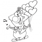 Clown Coloring Pages Circus Clipart