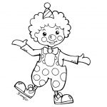Clown Coloring Pages Clipart