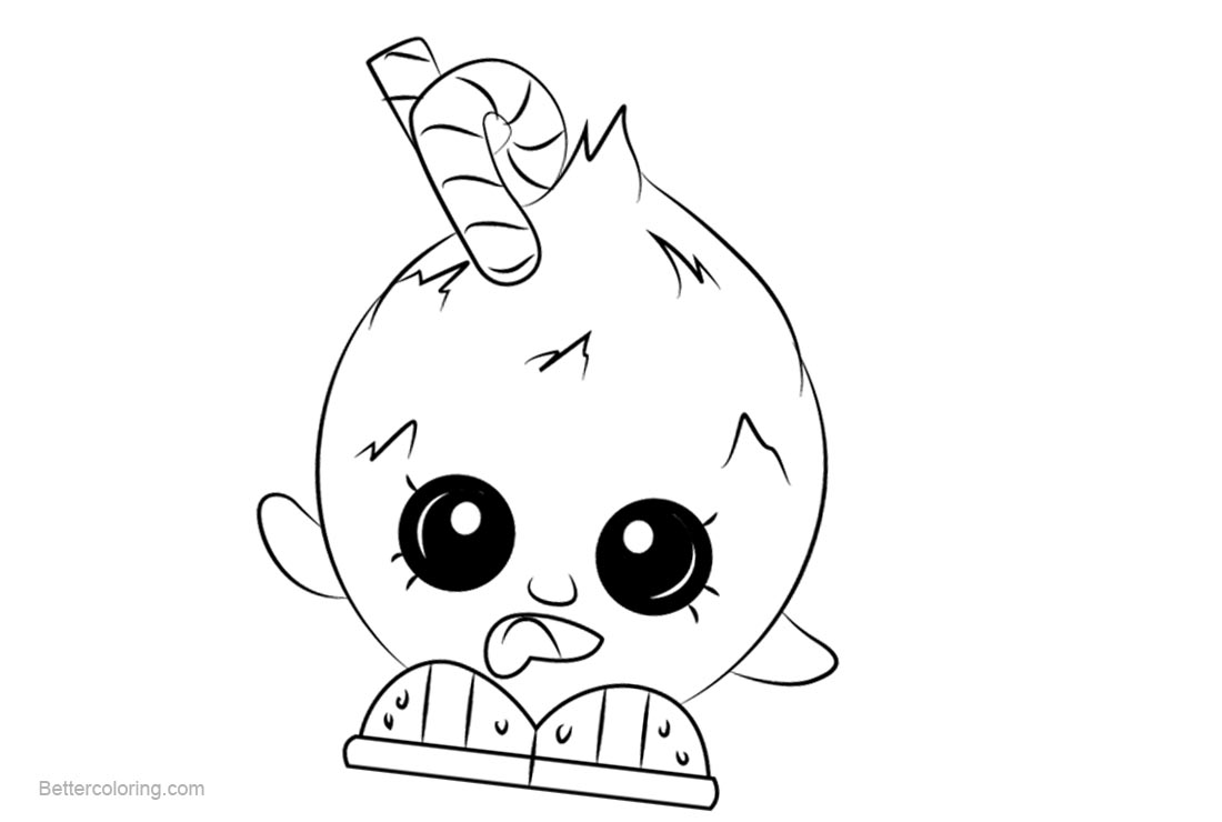 Free Coco Nutty Shopkins Coloring Pages Printable and Free printable
