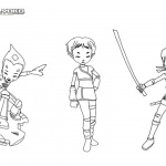 Code Lyoko Coloring Pages Characters