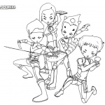 Code Lyoko Coloring Pages Characters Warriors