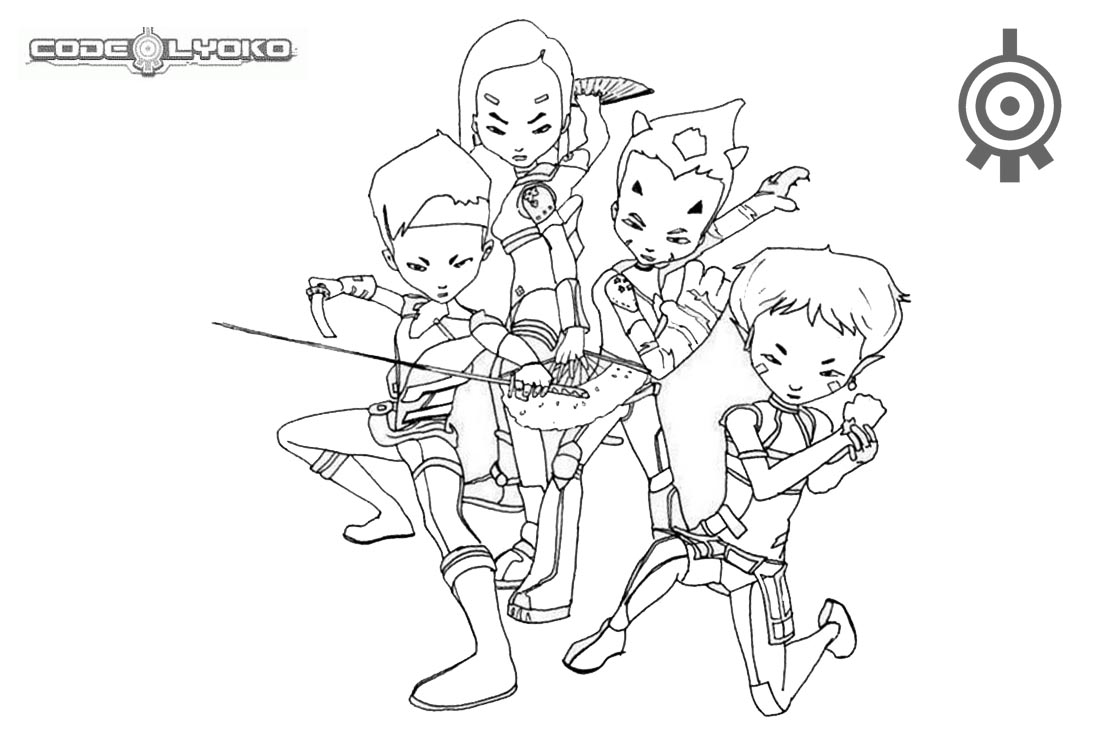 Code Lyoko Coloring Pages Characters Warriors printable for free
