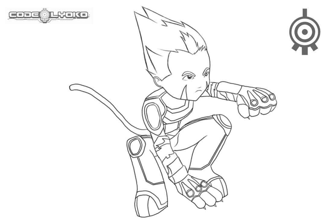 Code Lyoko Coloring Pages Odd Fan Art by feareffectinferno printable for free