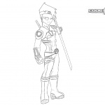 Code Lyoko Coloring Pages Ulrich Lineart by FearEffectInferno