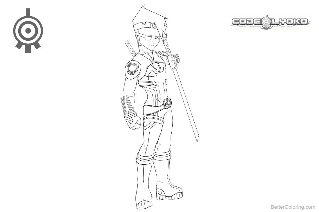 Code Lyoko Coloring Pages Ulrich Lineart by FearEffectInferno printable for free
