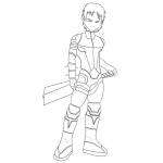 Code Lyoko Coloring Pages William Lineart