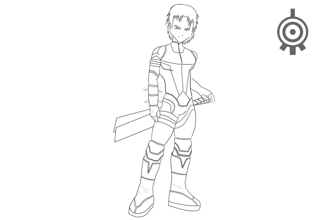 Code Lyoko Coloring Pages William Lineart - Free Printable ...