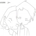 Code Lyoko Coloring Pages Yumi and Ulrich
