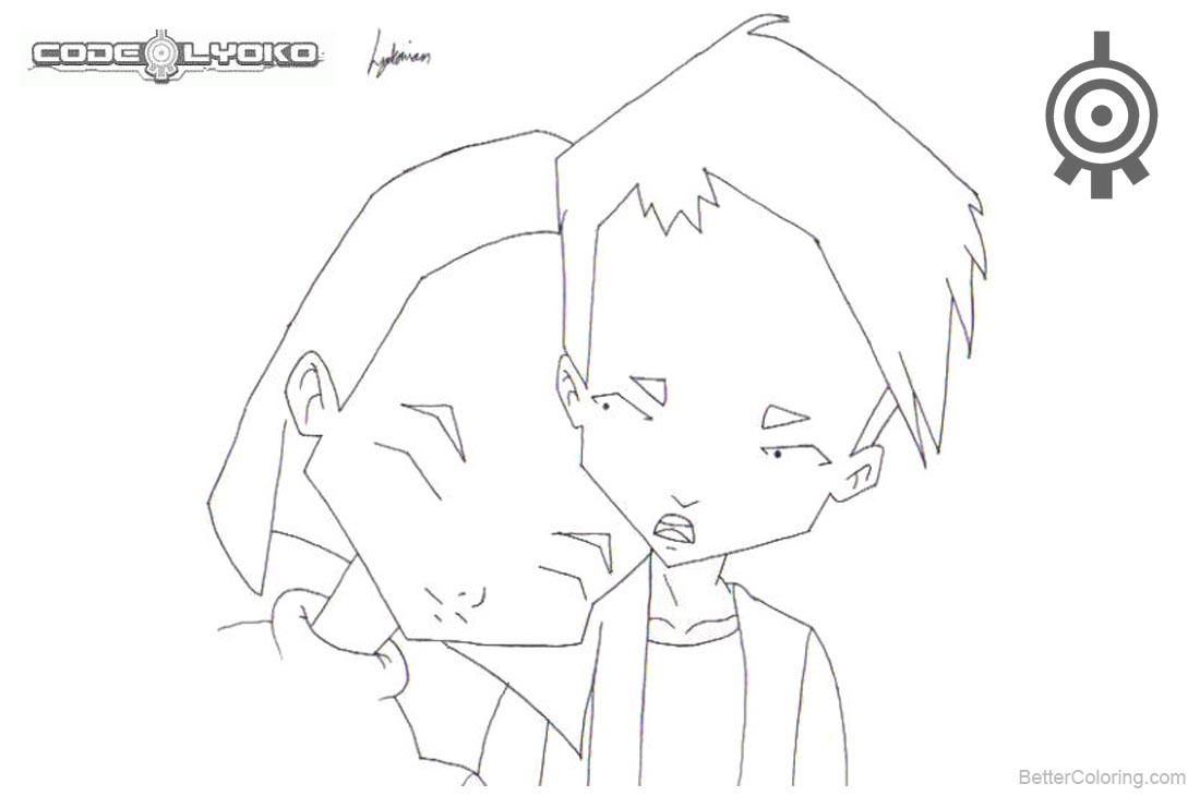 Code Lyoko Coloring Pages Yumi and Ulrich printable for free