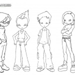 Code Lyoko Warriors Coloring Pages