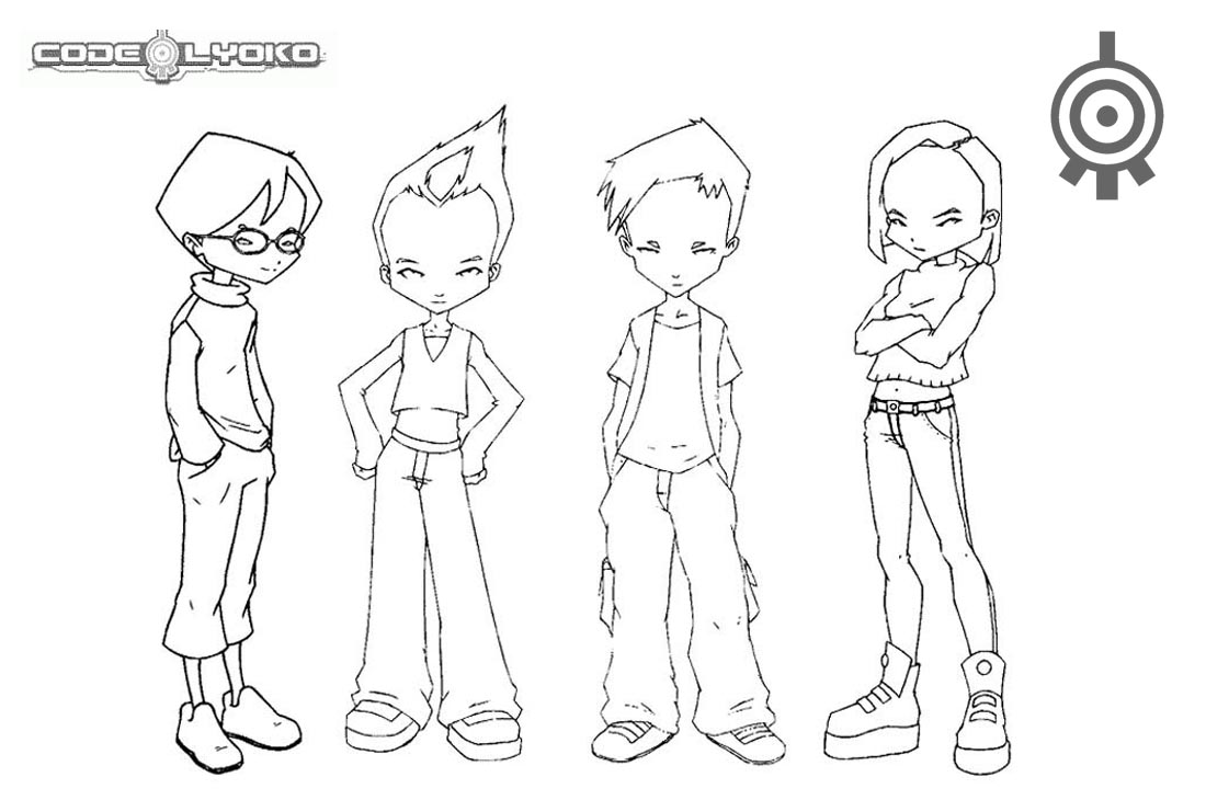 Code Lyoko Warriors Coloring Pages printable for free