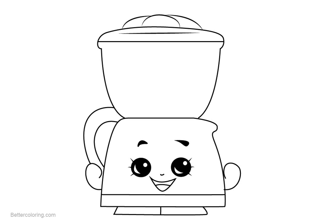 Free Coffee Drip Shopkins Coloring Pages Printable and Free printable