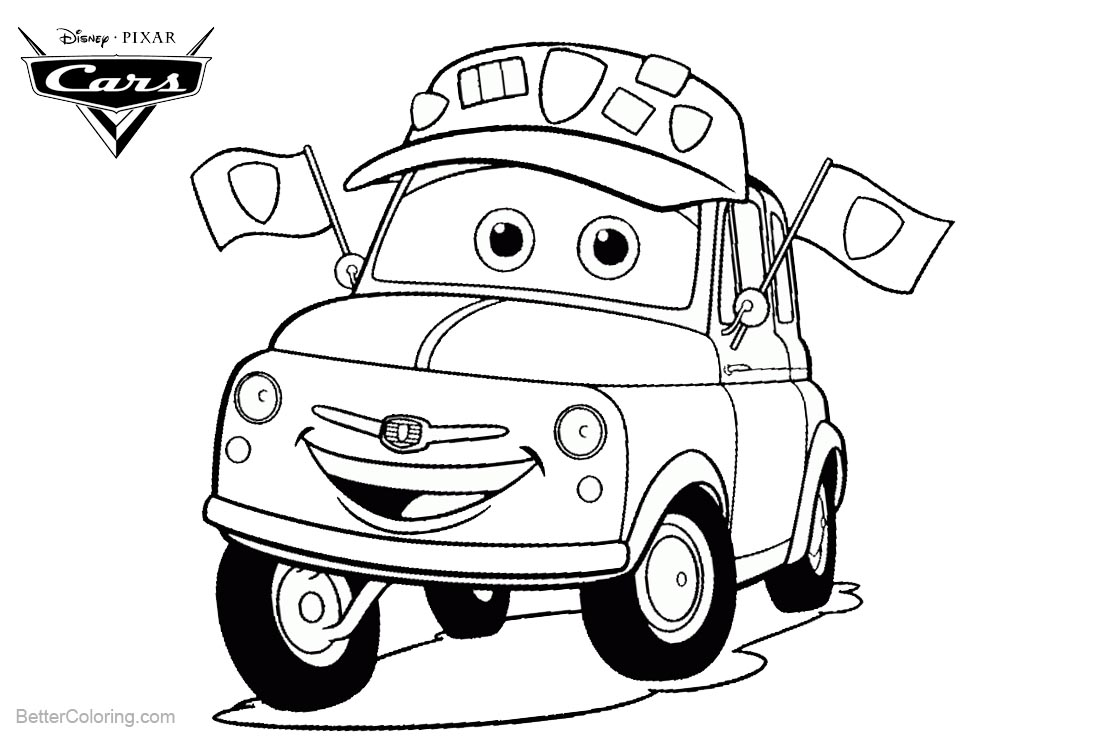 disney cars coloring pages luigi - photo#2