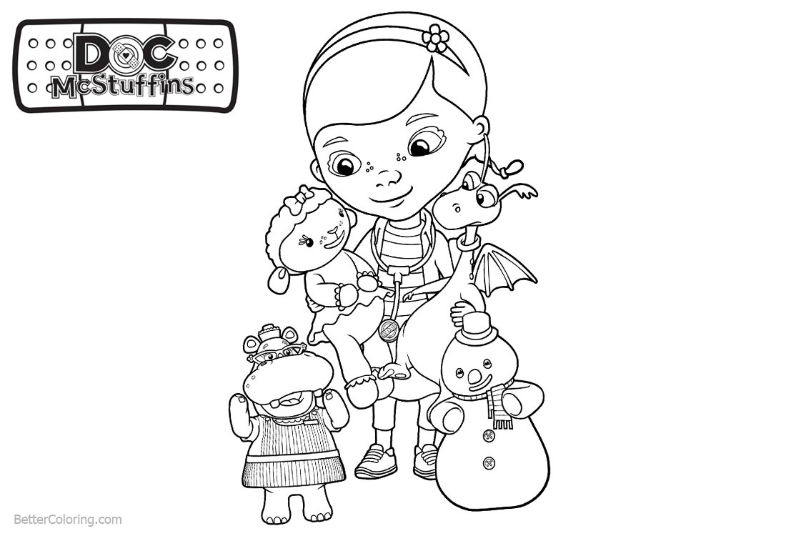 Coloring Pages of Doc McStuffins printable for free