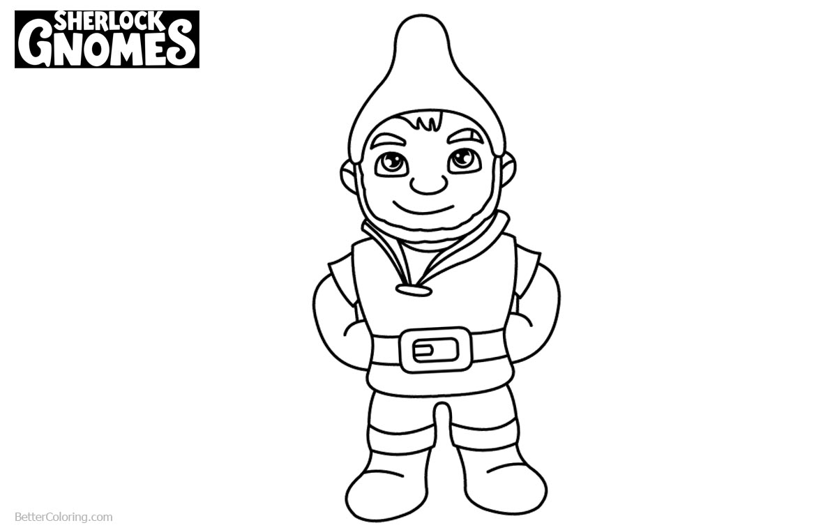 Coloring Pages of Sherlock Gnomes Gnomeo printable for free