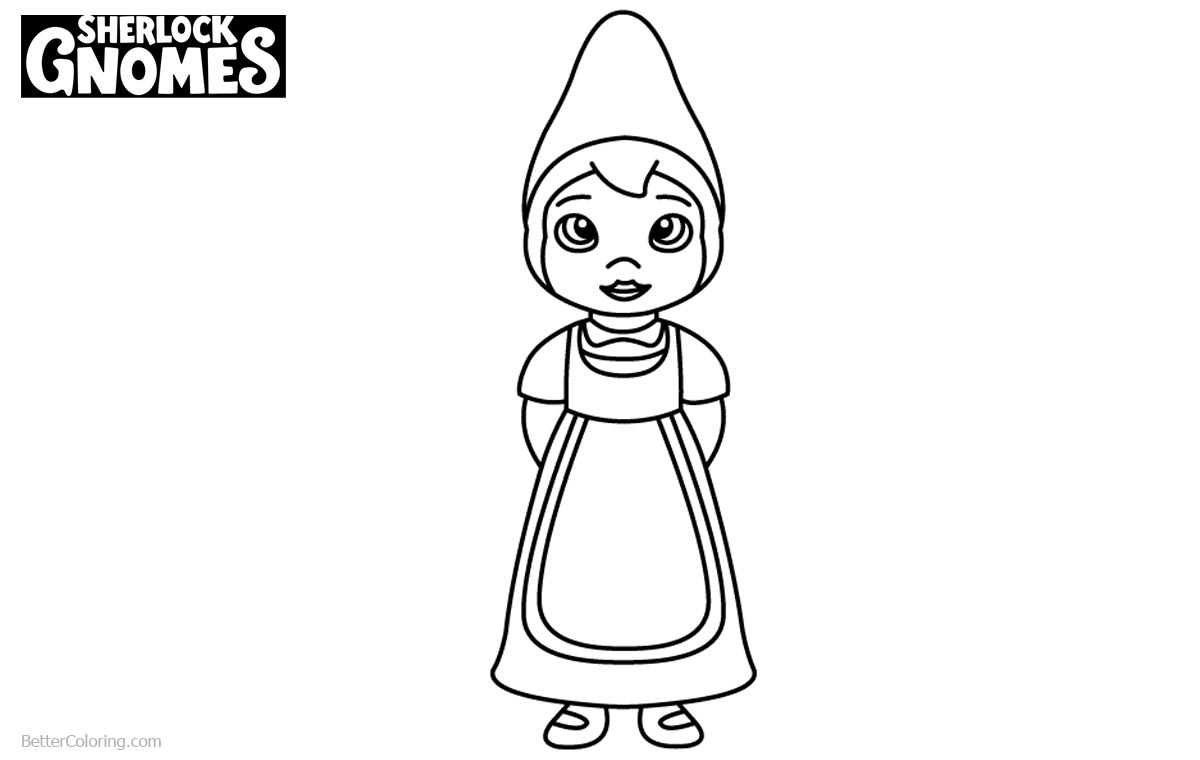 Coloring Pages of Sherlock Gnomes Juliet printable for free