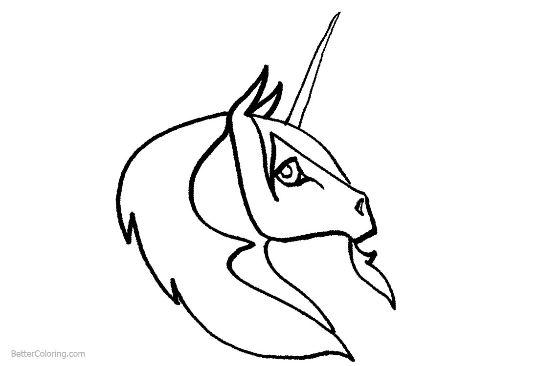 Coloring Pages Of Unicorn Head Free Printable Coloring Pages
