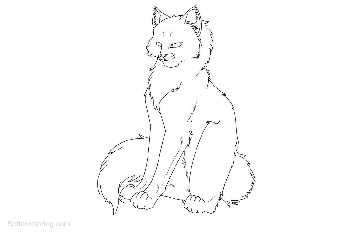 Free Coloring Pages of Warrior Cats printable