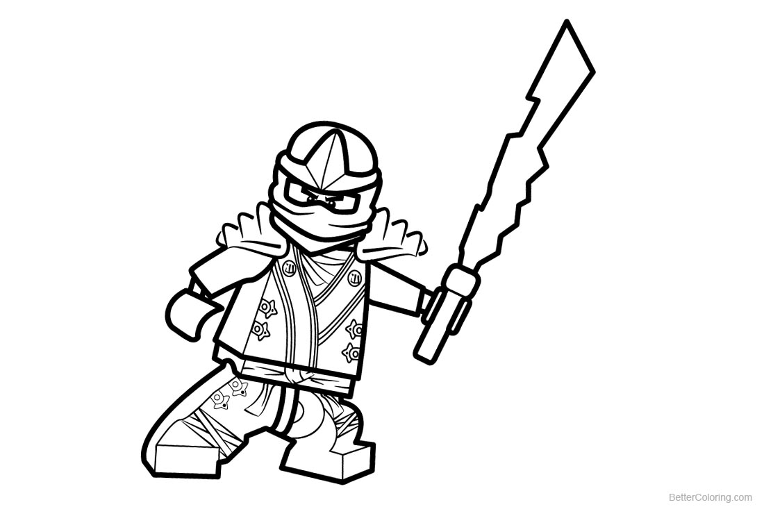 Cool Lego Ninjago Coloring Pages printable for free
