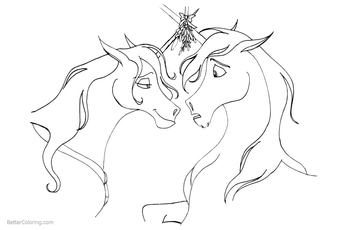 Couple Unicorn Coloring Pages printable for free