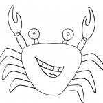 Crab Coloring Pages Line Drawing