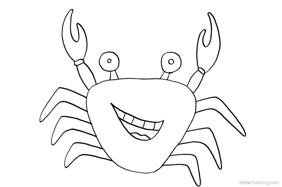 Crab Coloring Pages Line Drawing - Free Printable Coloring Pages
