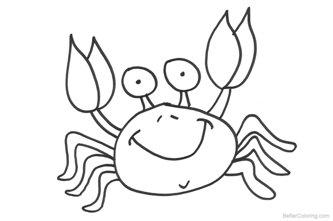 Crab Coloring Pages - Free Printable Coloring Pages