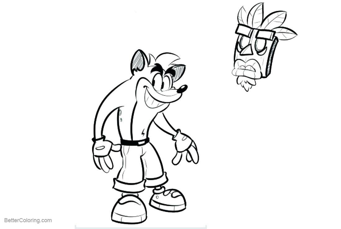 free crash bandicoot coloring pages - photo#25