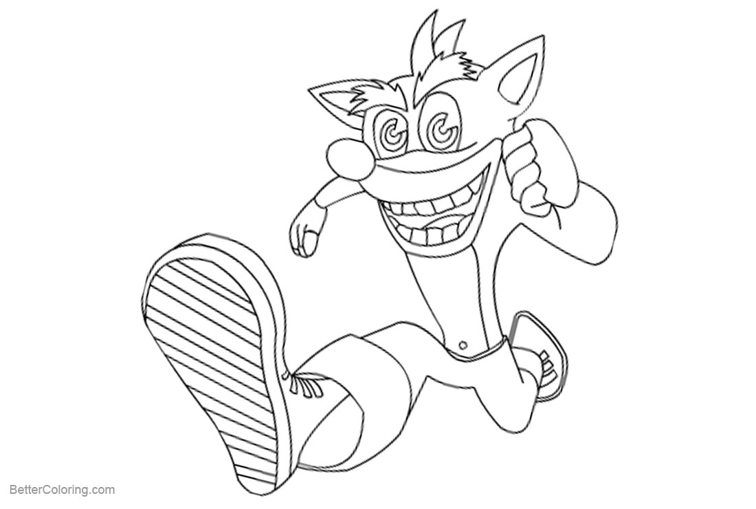 Crash Bandicoot Coloring Pages by turbocharge0 - Free Printable ...