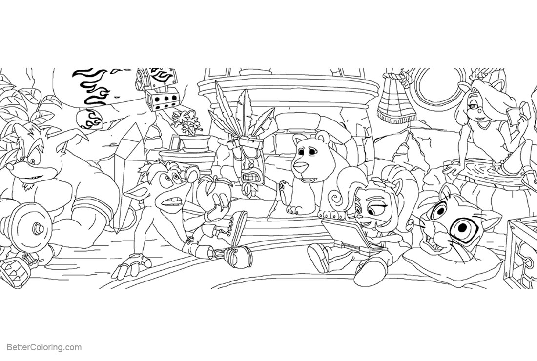 free crash bandicoot coloring pages - photo#13