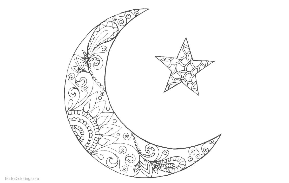 Crescent of Ramadan Coloring Pages - Free Printable Coloring Pages