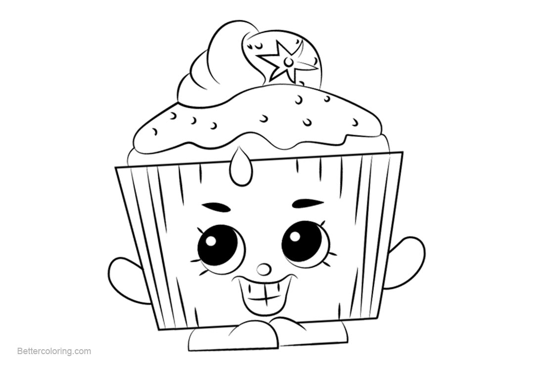 Free Cupcake Chic Shopkins Coloring Pages Printable and Free printable