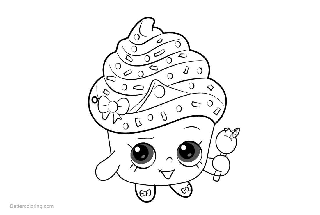 Free Cupcake Queen Shopkins Coloring Pages Printable and Free printable
