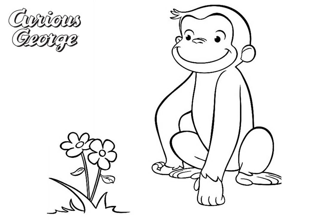 Curious George Coloring Pages Find a Flower - Free Printable ...