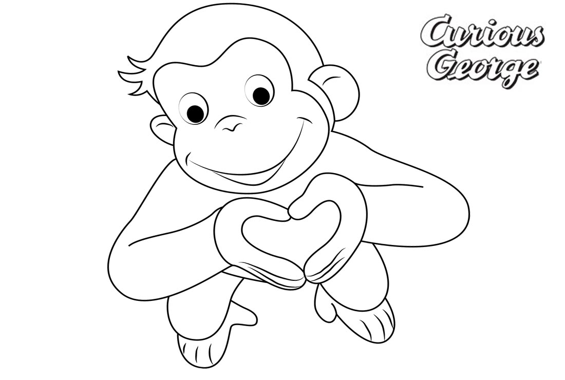 Curious Gee Coloring Pages Love