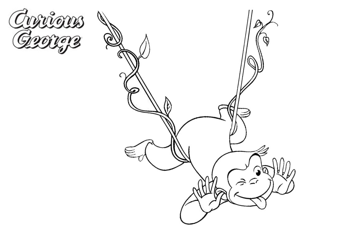 Curious George Coloring Pages Making A Face Free Printable