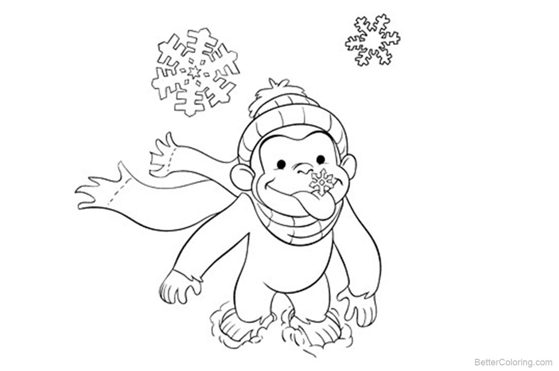 Curious George Coloring Pages Monkey printable for free