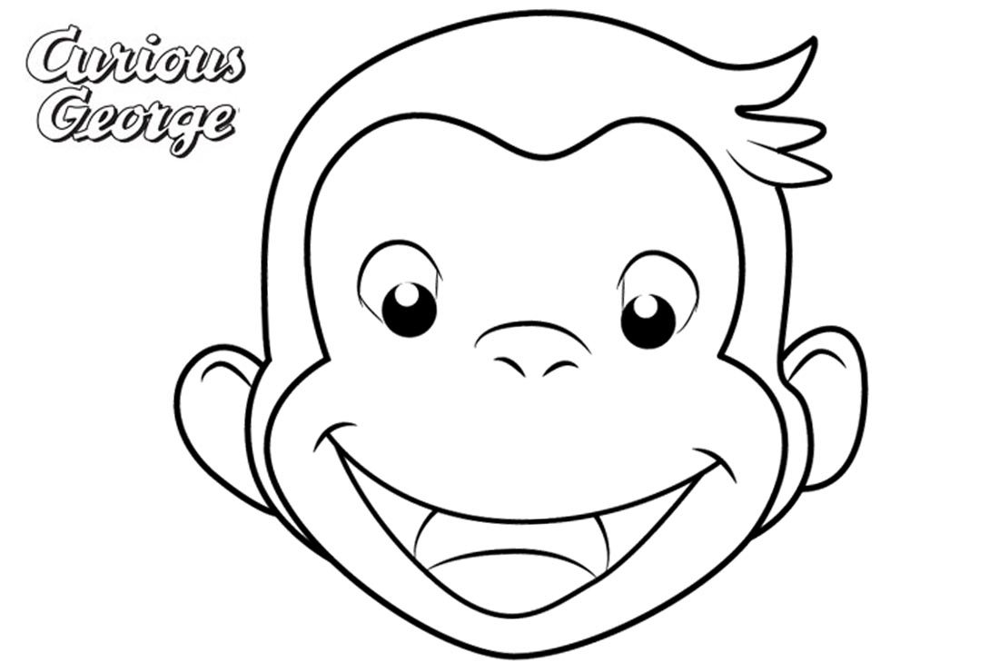 free printable coloring pages of curious george | Curious George Coloring Pages Simple Face Drawing - Free ...