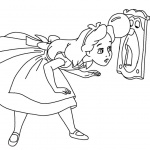 Cute Alice in Wonderland Coloring Pages