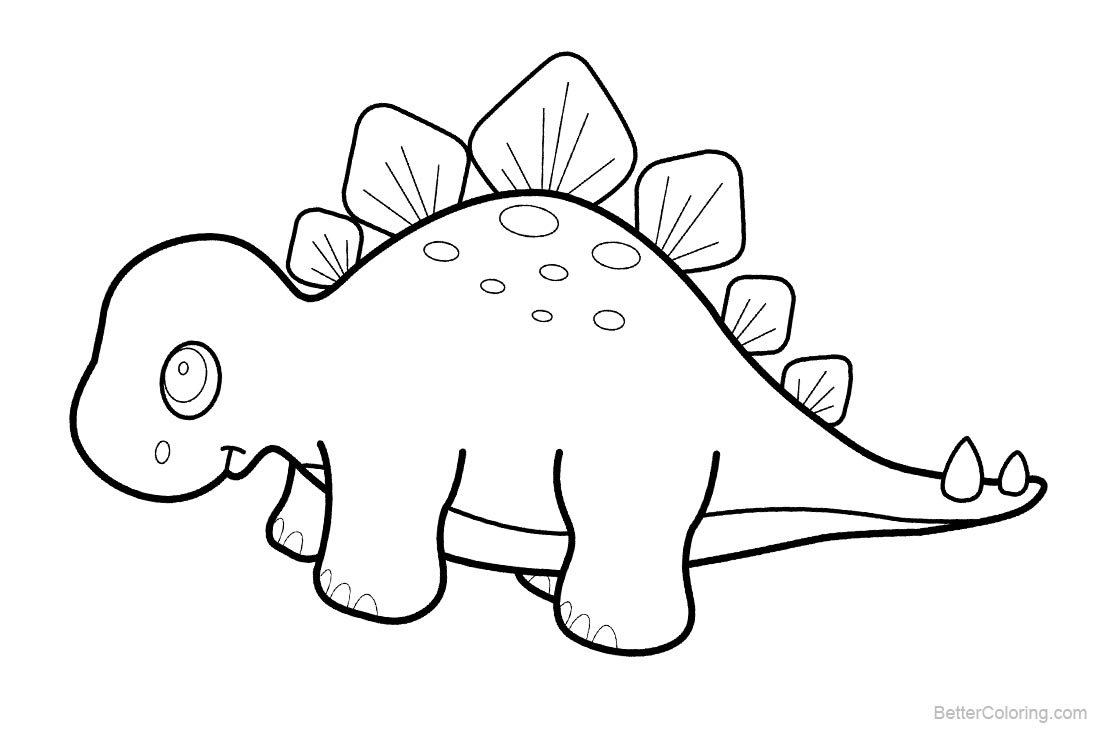 Cute Dinosaurs Coloring Pages - Free Printable Coloring Pages