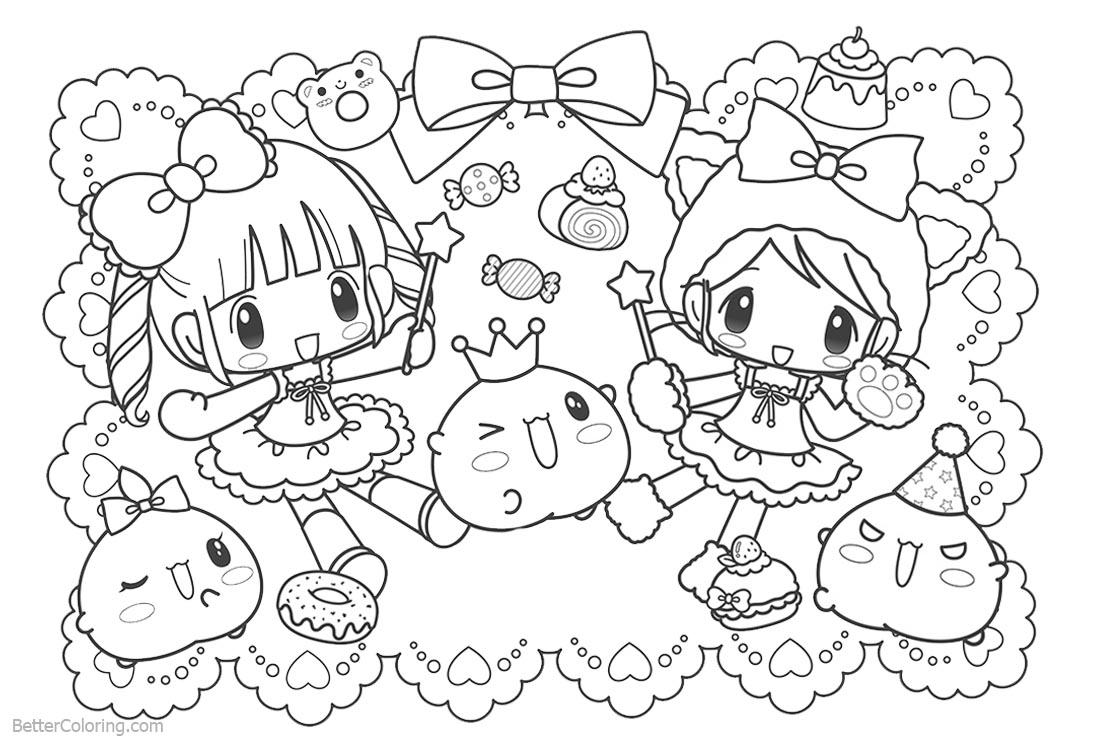 Cute Food Coloring Pages Girls