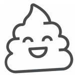 Cute Poop Emoji Coloring Pages