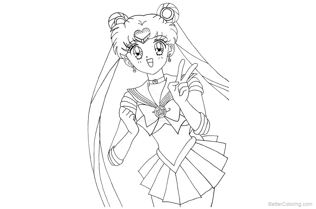 Cute Sailor Moon Coloring Pages - Free Printable Coloring Pages
