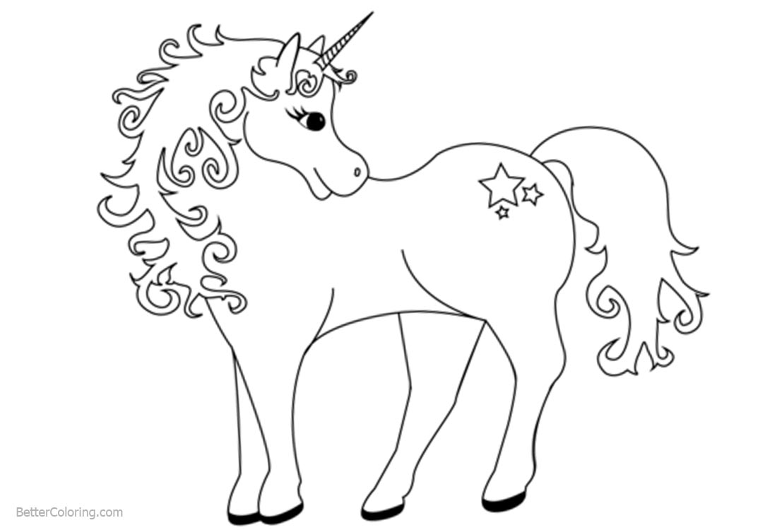 Cute Unicorn Coloring Pages - Free Printable Coloring Pages