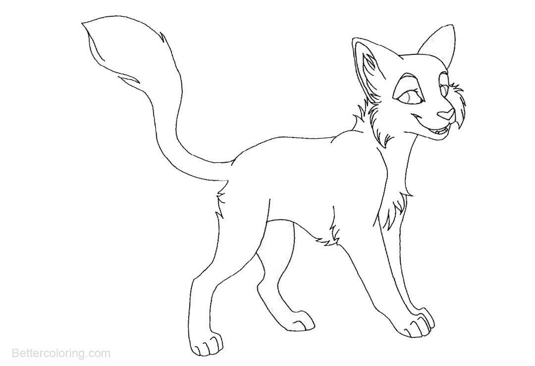 Free Cute Warrior Cats Coloring Pages printable
