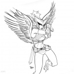 Hawkgirl Coloring Pages Sketch By Claret821021 Free Printable